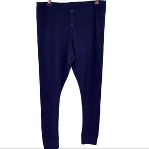 Free Press navy blue ribbed lounge pants large